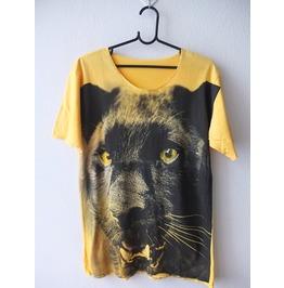 Black Panther Animal Pop Rock Indie Fashion Tie Dye T Shirt Low Cut M