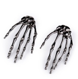 Scary Black Skeleton Hands Earrings