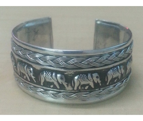 bangle_cuff_bracelet_women_stainless_steel_elephant_twine_strand_emboss_silver_color_bracelets_5.jpg