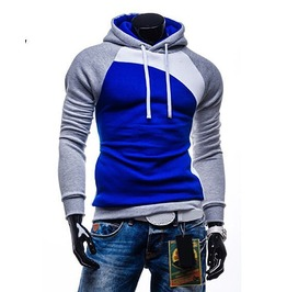 Mens White Blue Hoody Hood Hoodies Fashion Men Shirt Sweatshirt