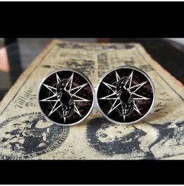 "Slipknot Goat Head ""S"" *New* Logo Cuff Links Men, Weddings,Grooms, Groomsmen,Gifts,Dads,Graduations"