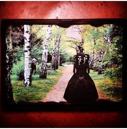 "Creepy Collage Series/The Adventures Señor Calavera ""Twins/Deep Woods"" Mixed Media Wood Mini"