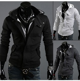 Men's Black // Grey // White Color Hood Hoodies Shirt Men Sweatshirt