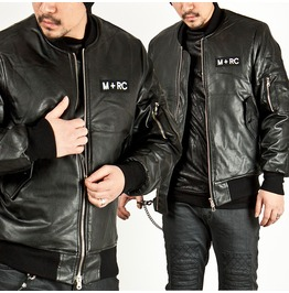 Black Leather Air Force Jacket 116