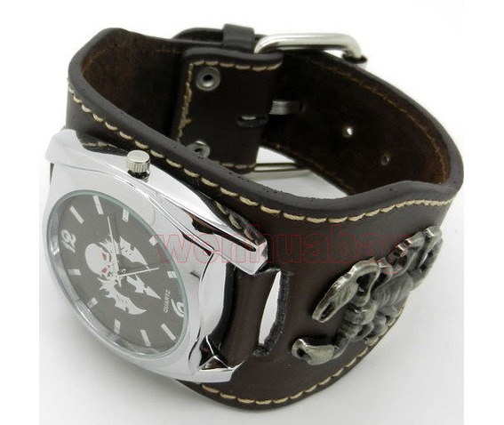 new_brown_punk_rock_scorpion_gothic_quartz_wrist_watch_party_hour_mens_boy_watches_4.JPG