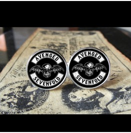 Avenged Sevenfold Bathead Logo *New* Cuff Links Men, Weddings,Grooms, Groomsmen,Gifts,Dads,Graduations