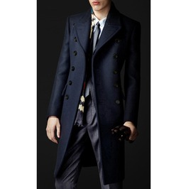 Imported Navy Blue Steampunk Mens Coat 10 Qs Pls Read Size Detail B 4 U Buy