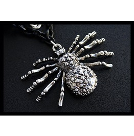 Creepy Crawly Large Spider Necklace