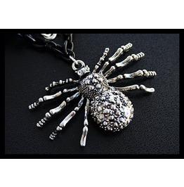 Creepy Crawly Large Spider Necklace