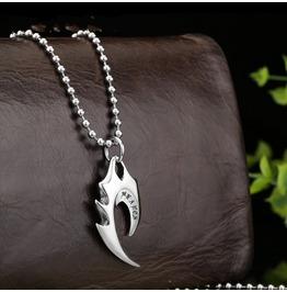 Crow Heart Titanium Stainless Steel Men Necklace