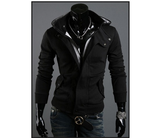 Images of Mens Black Winter Coat - Reikian