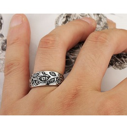 Vintage Decorative Design Men Ring Steampunk Ring