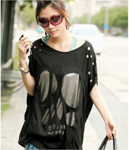 fashion_women_batwing_sleeve_sexy_casual_loose_long_skull_top_t_shirt_tee_blouse_black_white_navy_blue_shirts_9.jpg