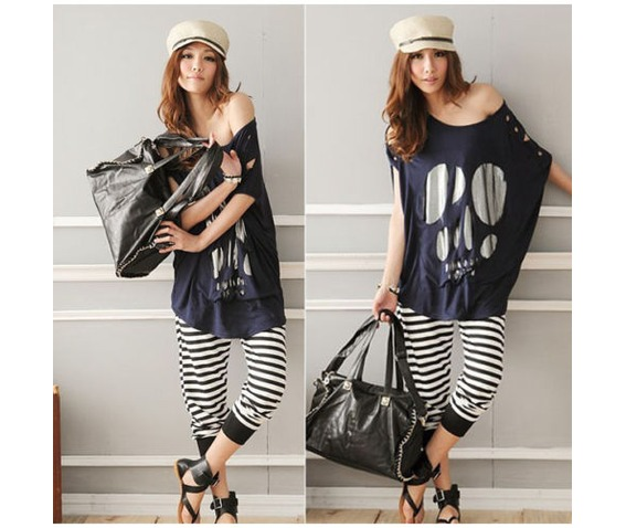fashion_women_batwing_sleeve_sexy_casual_loose_long_skull_top_t_shirt_tee_blouse_black_white_navy_blue_shirts_3.jpg