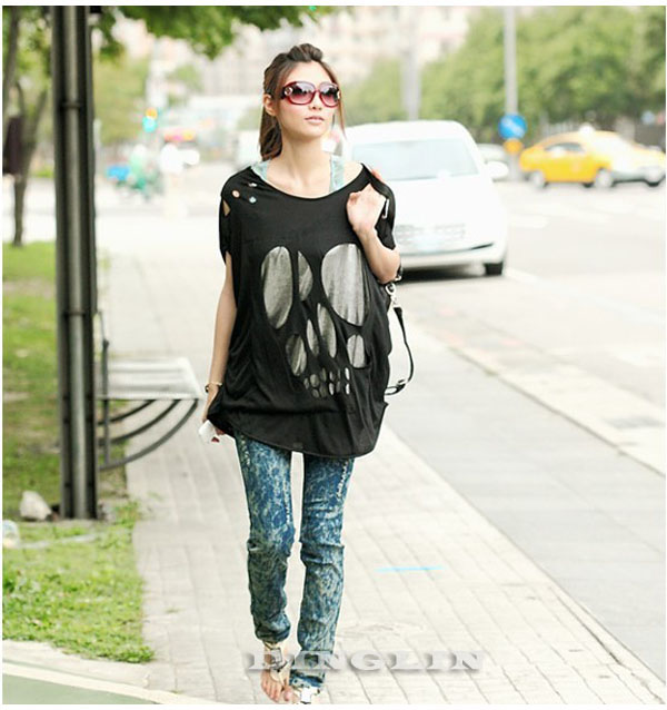 fashion_women_batwing_sleeve_sexy_casual_loose_long_skull_top_t_shirt_tee_blouse_black_white_navy_blue_shirts_7.jpg