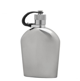 U Shaped Smooth Stainless Steel Hip Flask S039