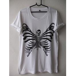 Butterfly Skull Fashion Indie Pop Rock T Shirt M