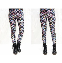 Pastel Colorful Mermaid Leggings
