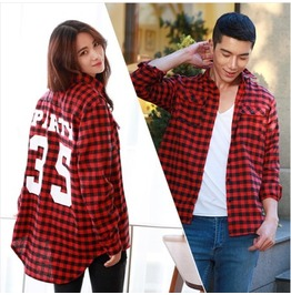 Unisex Checked Shirt Wim025 B