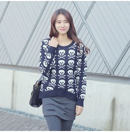 Skull Sweater Wim010 N