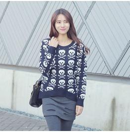 Skull Sweater Wim010 N