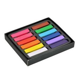 12 Color Rainbow Hair Chalk Easy Hair Dyeing Set