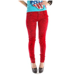women's red skinny jeans - Jean Yu Beauty