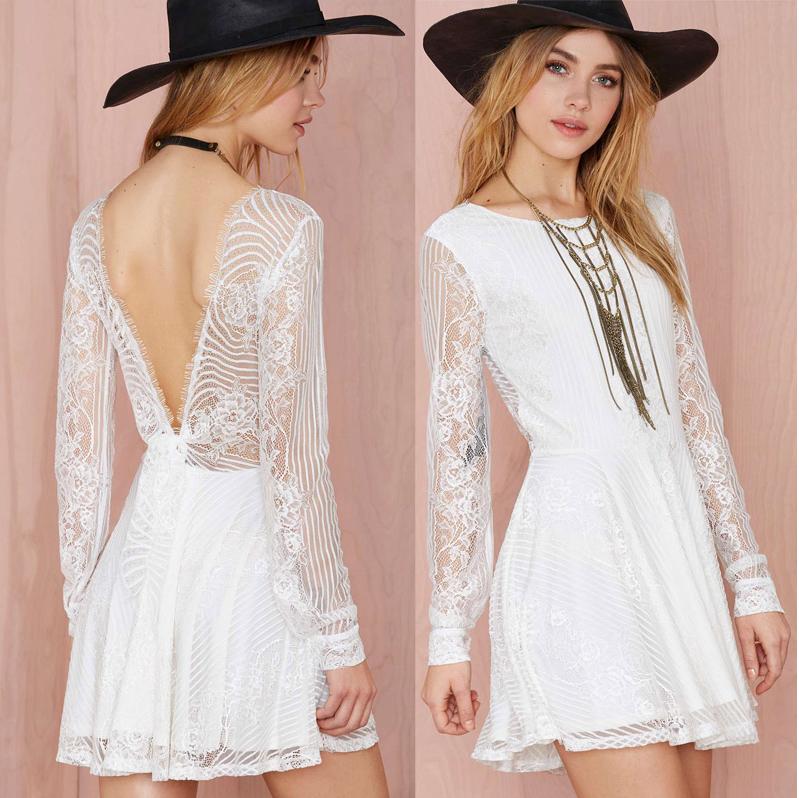 Cute short white lace dress