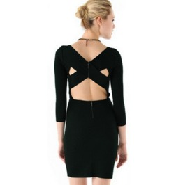 Sexy Backless Thick Cross Strap Short Dress