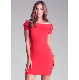 Sexy Slim Fit Short Sleeves Red Short Dress