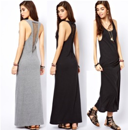 Sexy Sleeveless Cut Back Long Dress