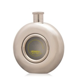 Round Stainless Steel Hip Flask S041