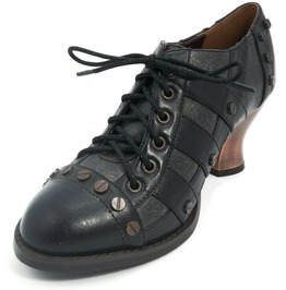 Hades Shoes Jade Women's Black Victorian Shoes