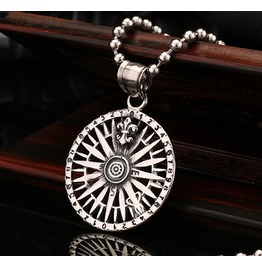 Digital Compass Chrome Hearts Titanium Stainless Steel Men Necklace
