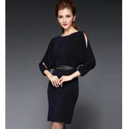 Stylish Cut Sleeves Short Dress