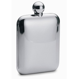 Mirror Polished Stainless Steel Hip Flask S042