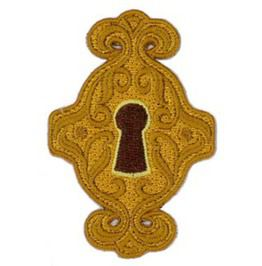 Keyhole embroidered patch 7 5cm x 5cm 3 x 2 patches