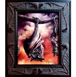 "8"" X 10"" Hand Carved, Cast ""Dead Hai"" Gothic Picture Frame Resin (Print Sold Seperately)"