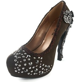 Hades Shoes Amina Brown Steampunk Platforms