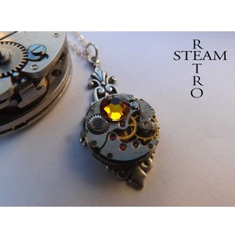 Art Deco Steampunk Volcano Necklace Steampunk Jewellery Steampunk Necklace Steamretro