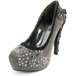Hades Shoes Amina Pewter Women's Platforms
