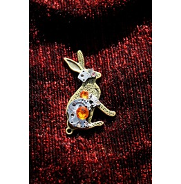Another Item Mechanical Steampunk Watch Parts Bunny Rabbit Pendant