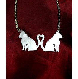 Cat Lovers Alluminium Handcut Pendant Pet Jewelry