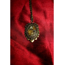 Another Item Steampunk Mechanical Watch Part, Swarovski Crystalled Cameo Frame Setting