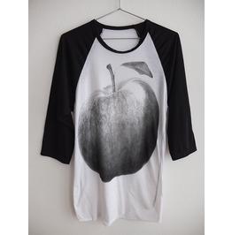 Apple T Shirt 3/4 Long Sleeve Baseball Pop Rock T Shirt M