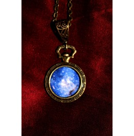 Another Item Steampunk Galaxy Print Cabochon Locket Pendant