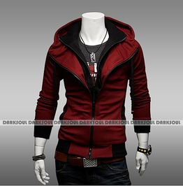 Red Black Grey Color Men's Hoodies Winter Mens Hood Sweatshirts