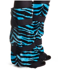 Black Blue Zebra Boot Covers Winter Spats Steampunk Shoes Handmade In Italy
