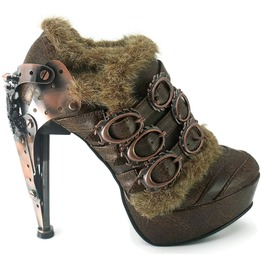 Hades Shoes Atriedes Brown Steampunk Platforms
