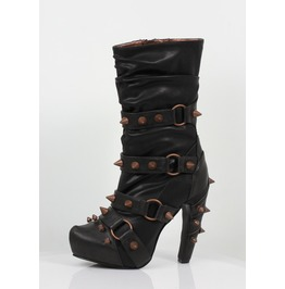 Hades Shoes Women's Bjorn Black Studded Boots